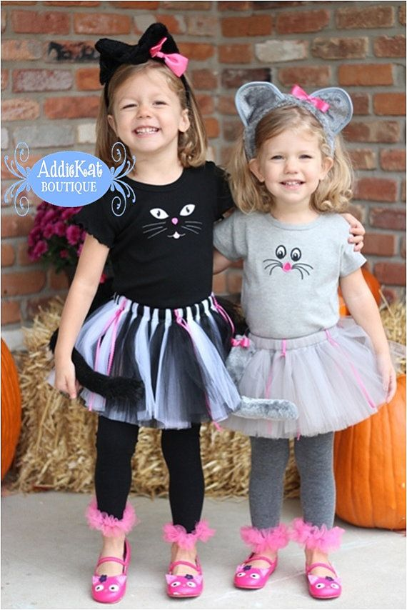 halloween costume for siblings cat and mouse cute kids finds