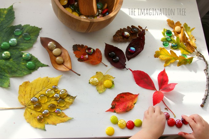 Matching-gems-and-leaves-activity-680x453
