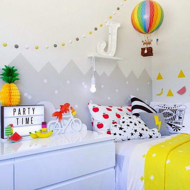 I Love This Bright And Fruity Room For Kids Featured On The Boo And The  Boy: Kidsu0027 Rooms From Instagram. I Like The Blend Of Rainbow Colors, ...