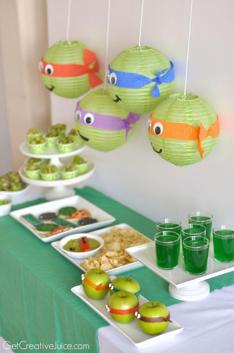 Cute Boys Birthday Party Theme Teenage Mutant Ninja Turtles Cute