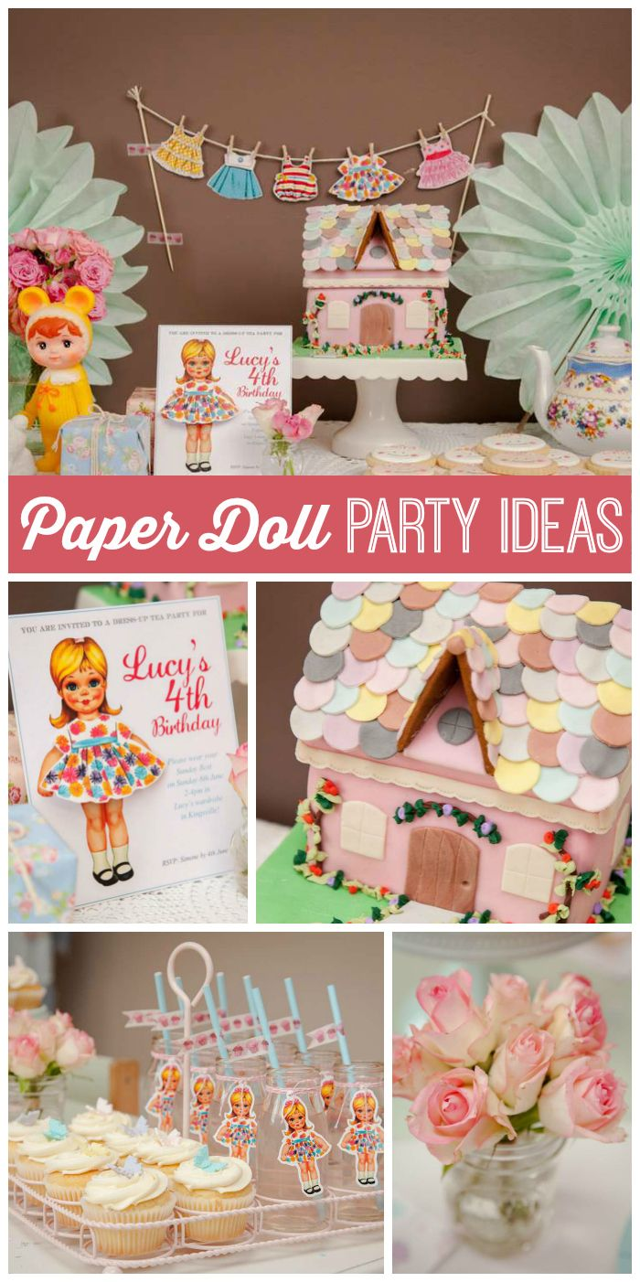 Paper Doll Birthday Party Theme For Girls 683fd72ecad60a82b01c46594607d1c8