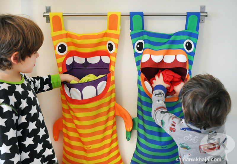 Cute Laundry Bags diy] hungry monster laundry bag - cute kids finds