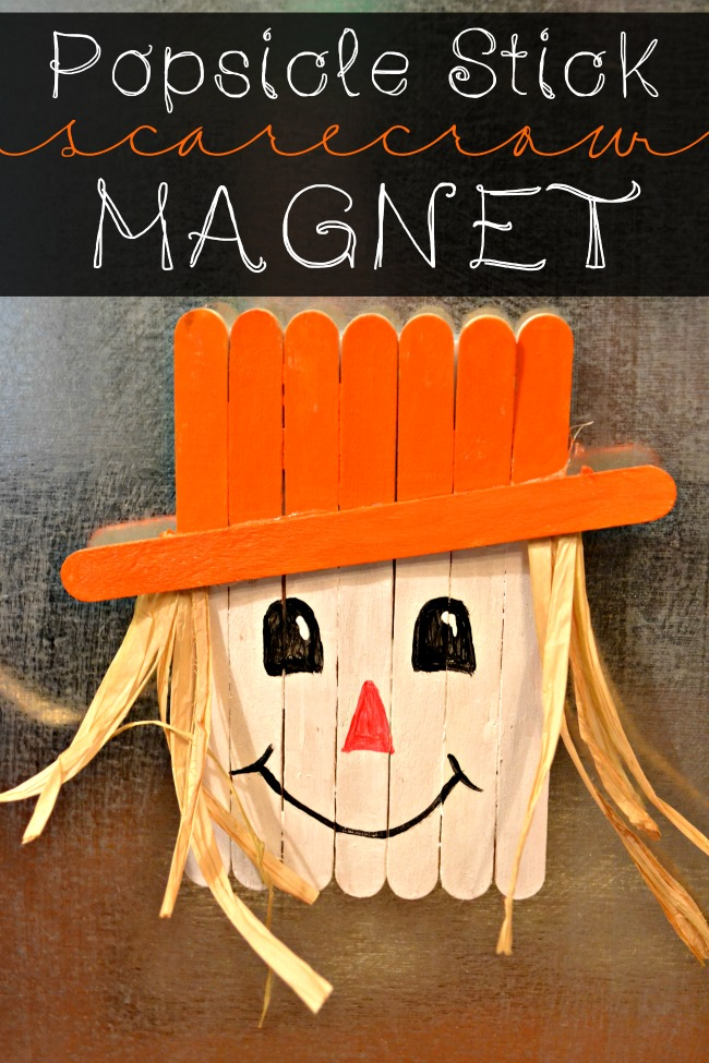 Popsicle Stick Scarecrow Magnet