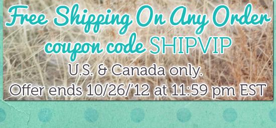 FREE SHIPPING code SHIPVIP