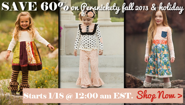 Persnickety Clothing Sale - Fall & Holiday 2013