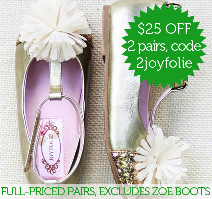 Save $25 on 2 pais of full-priced Joyfolie