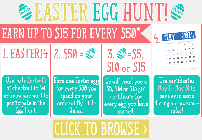 Earn up to $15 for $50 Egg Hunt