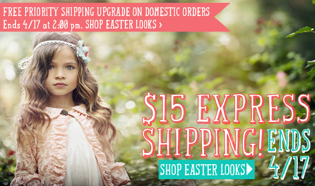 $15 Express Shipping and Free Priority Shipping Upgrade