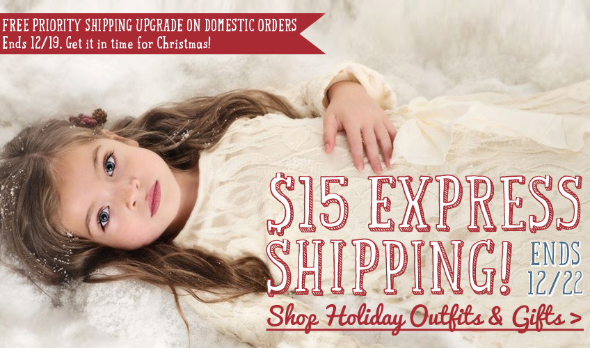 $15 Express shipping & free Priority shipping upgrade