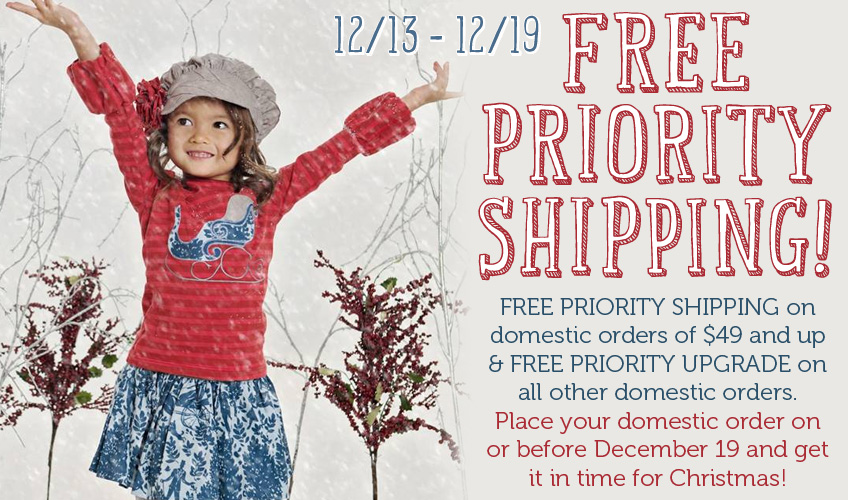 Free PRIORITY Shipping Starts Now