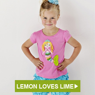 Lemon Loves Lime Mermaid Tee