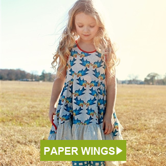 Paper Wings Bluebirthds Dress