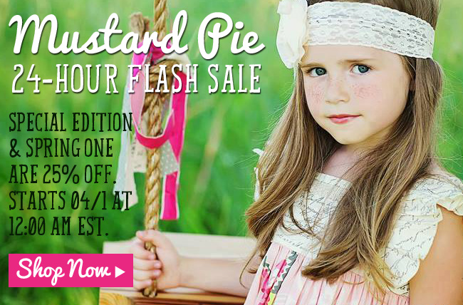 Mustard Pie Clothing Flash Sale