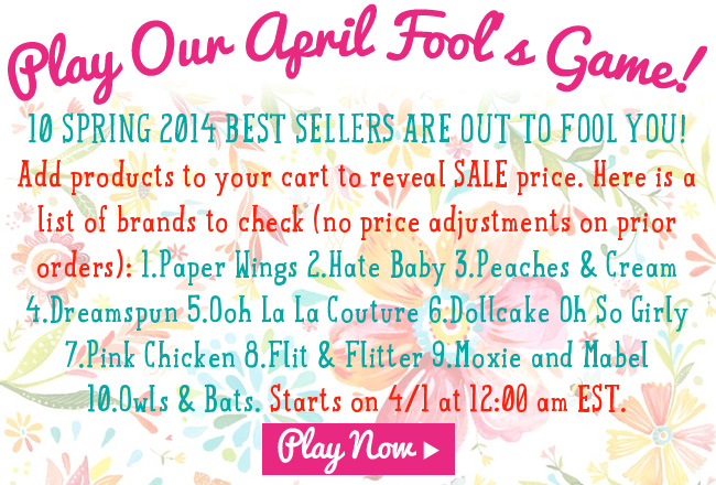 Play April Fool's Game for More SAvings!
