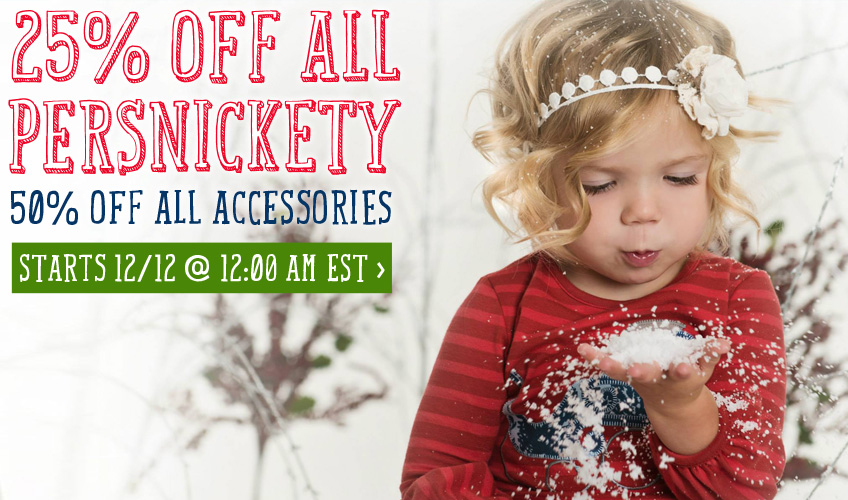 Save 25% on All Persnickety Fall and Holiday