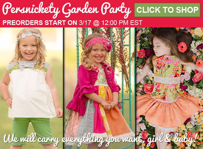 Persnickety Clothing Garden Party Preview Now