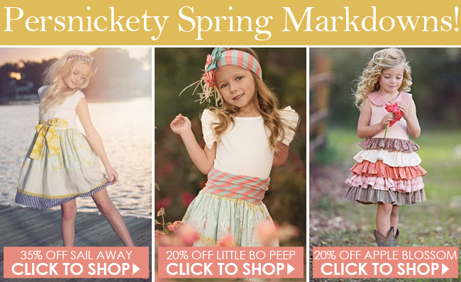 Persnickety Clothing Spring 2014 Sale