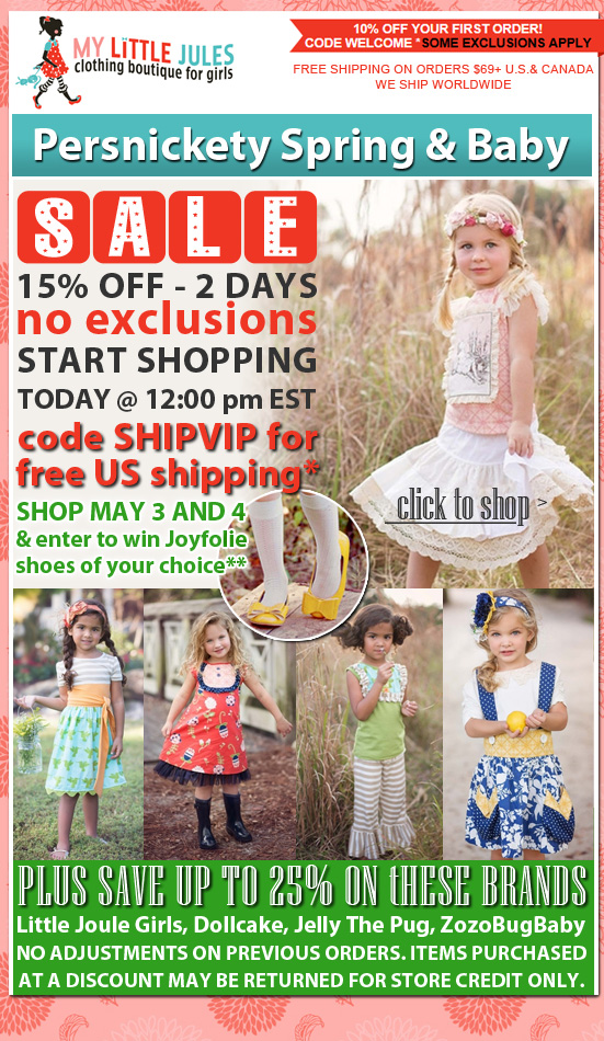 Persnickety Clothing Sale: 15% Off Spring & Baby