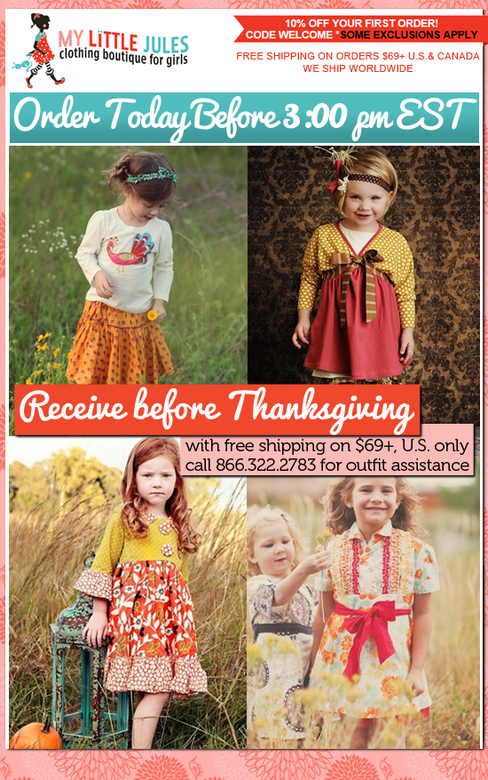 Girls Clothing Boutique: Thanksgiving Outfits