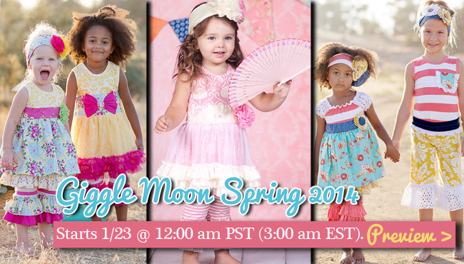 Giggle Moon Spring 2014 part two is almost here