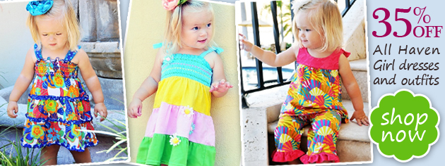 35% OFF all Haven Girl dresses and outfits